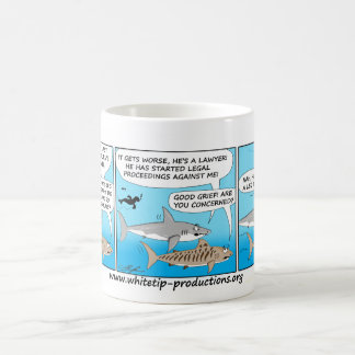 Cartoon Shark talk fun mug! Coffee Mug