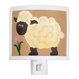 Cartoon Sheep & Flower Nightlight Nite Lites