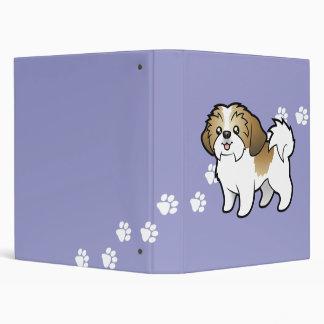Cartoon Shih Tzu (puppy cut) Binders