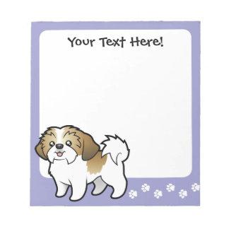 Cartoon Shih Tzu (puppy cut) Notepad