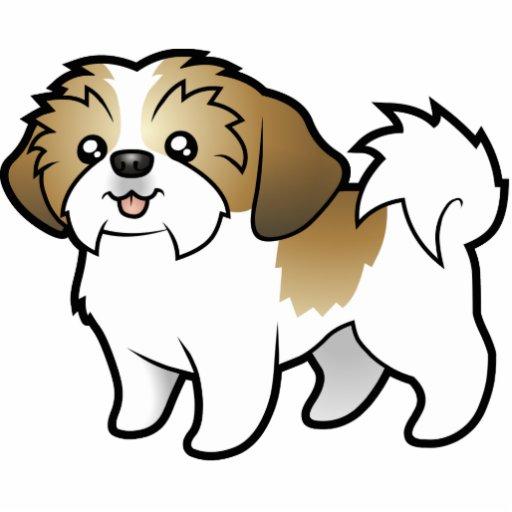 Cartoon Shih Tzu puppy Cut Photo Sculpture Zazzle