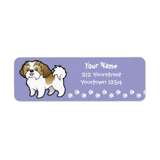 Cartoon Shih Tzu (puppy cut) Return Address Label
