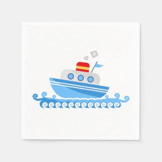 Cartoon Ship Paper Napkins