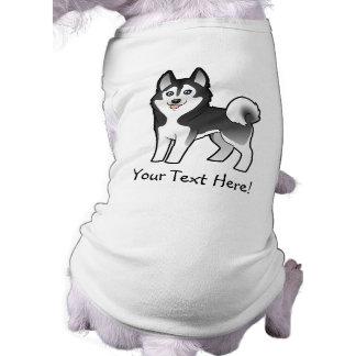 Cartoon Siberian Husky / Alaskan Malamute Doggie Shirt