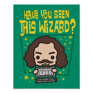 Cartoon Sirius Black Wanted Poster Graphic