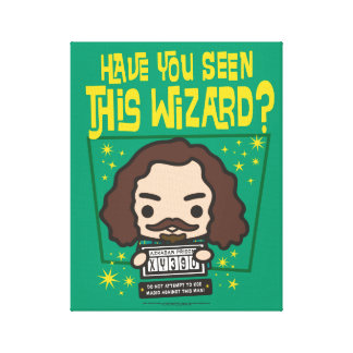 Cartoon Sirius Black Wanted Poster Graphic Canvas Print