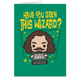 Cartoon Sirius Black Wanted Poster Graphic Card
