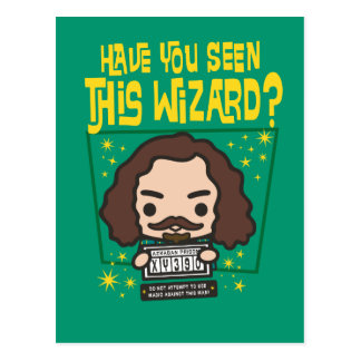 Cartoon Sirius Black Wanted Poster Graphic Postcard