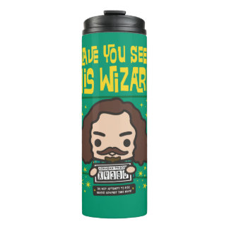 Cartoon Sirius Black Wanted Poster Graphic Thermal Tumbler