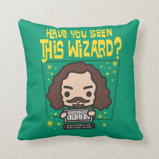 Cartoon Sirius Black Wanted Poster Graphic Throw Pillow