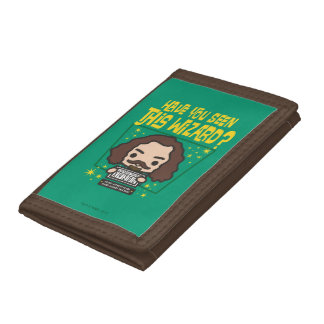 Cartoon Sirius Black Wanted Poster Graphic Tri-fold Wallets
