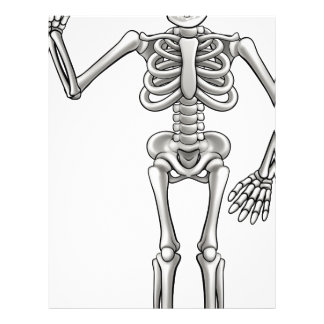 Cartoon Skeleton Letterhead