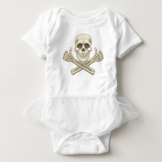 Cartoon Skull and Crossbones Pirate Thumbs Up Baby Bodysuit
