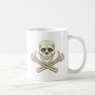 Cartoon Skull and Crossbones Pirate Thumbs Up Coffee Mug