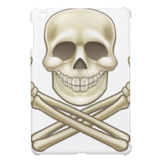 Cartoon Skull and Crossbones Pirate Thumbs Up iPad Mini Cover