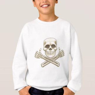 Cartoon Skull and Crossbones Pirate Thumbs Up Sweatshirt