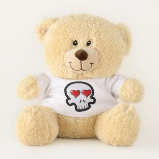 Cartoon Skull & Cross Bones Swirl Teddy Bear