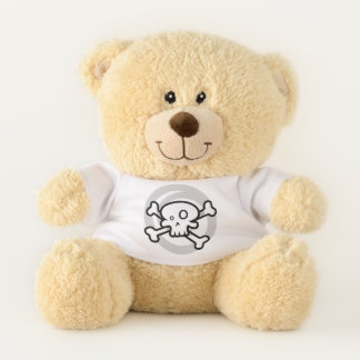 Cartoon Skull & Cross Bones Swirl Teddy Bear
