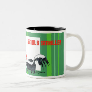 Cartoon Skunk Christmas Mug