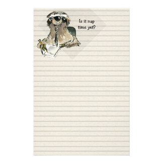 Cartoon Sloth Nap Time Stationery