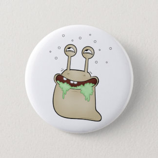cartoon slug 2 inch round button