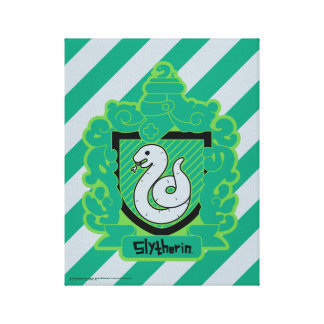 Cartoon Slytherin Crest Canvas Print