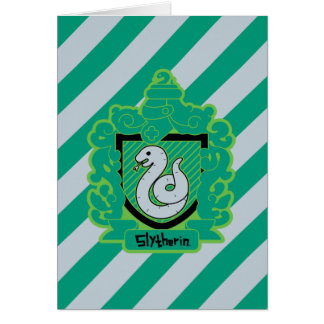 Cartoon Slytherin Crest Card