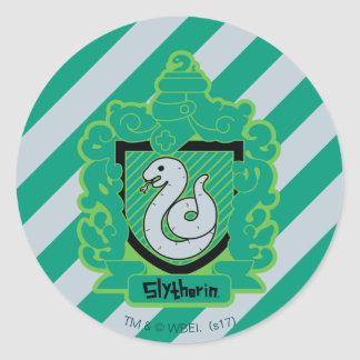 Cartoon Slytherin Crest Classic Round Sticker