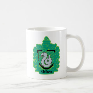Cartoon Slytherin Crest Coffee Mug