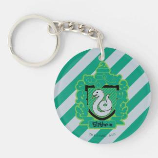 Cartoon Slytherin Crest Keychain