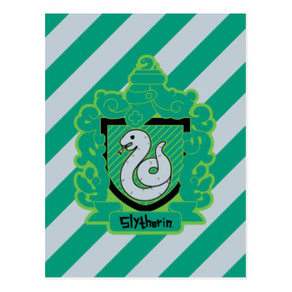 Cartoon Slytherin Crest Postcard