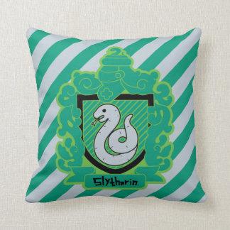 Cartoon Slytherin Crest Throw Pillow