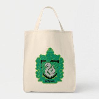 Cartoon Slytherin Crest Tote Bag