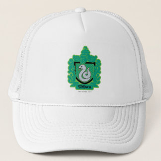 Cartoon Slytherin Crest Trucker Hat