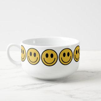 Cartoon Smiley face soup bowl