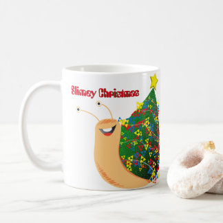 Cartoon Snail - Slimey Christmas Coffee Mug
