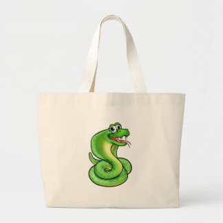 Cartoon Snake Cobra Large Tote Bag