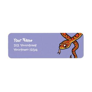Cartoon Snake Return Address Label