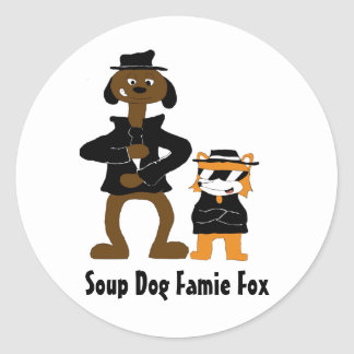 Cartoon Snoop Dogg And Jamie Fox Fans Round Sticker
