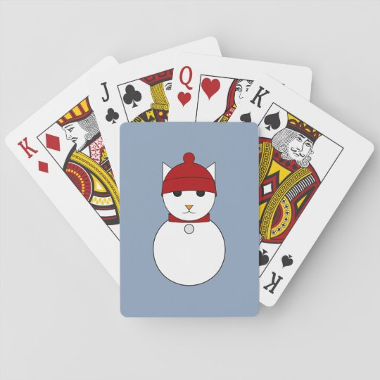 Cartoon Snowcat Playing Cards
