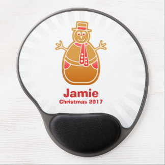Cartoon Snowman Gingerbread Cookie Customize Gel Mouse Pad