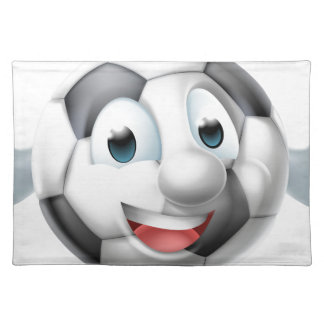 Cartoon Soccer Ball Man Character Placemat