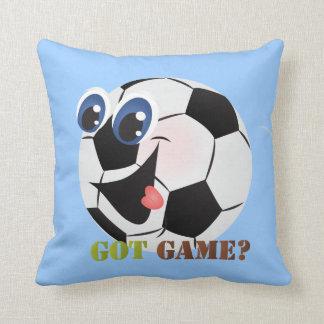 Cartoon Soccer ball sports throw pillow
