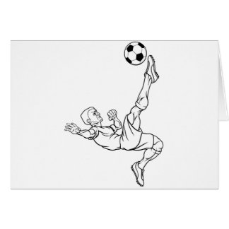 Cartoon Soccer Football Player Card