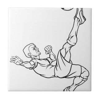 Cartoon Soccer Football Player Tiles