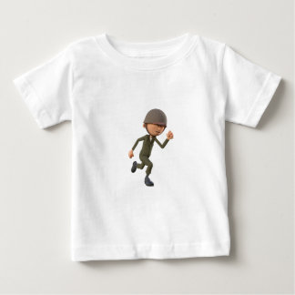 Cartoon Soldier Running Baby T-Shirt