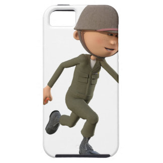 Cartoon Soldier Running iPhone 5 Cover