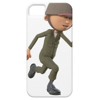 Cartoon Soldier Running iPhone 5 Covers