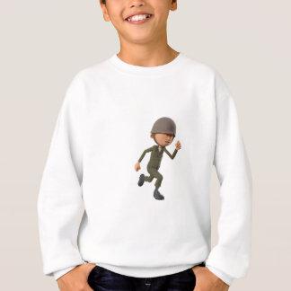 Cartoon Soldier Running Sweatshirt