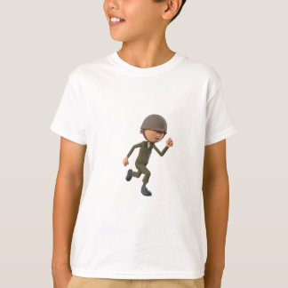 Cartoon Soldier Running T-Shirt
